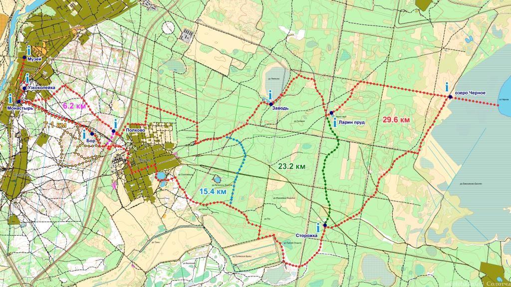 Тропа Паустовского карта